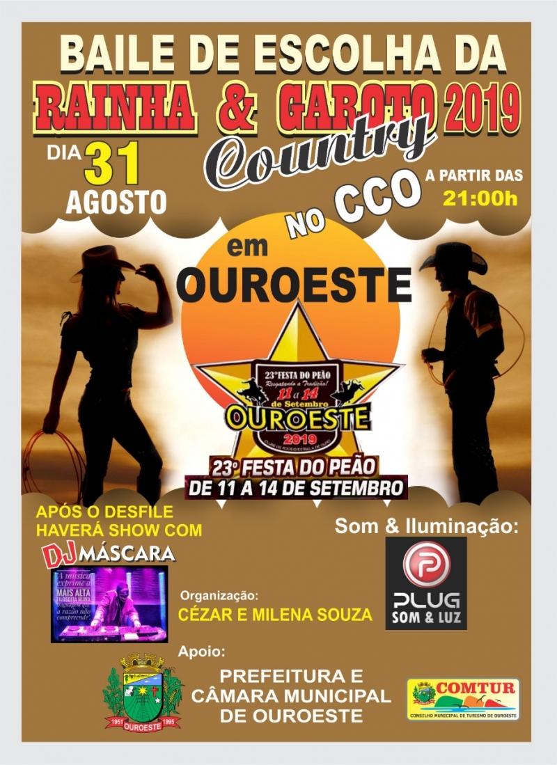 BAILE DE ESCOLHA DA RAINHA E GAROTO COUNTRY 2019